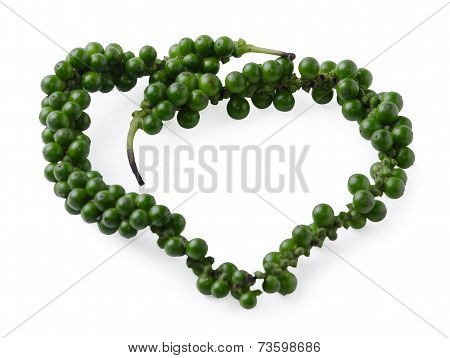 Fresh Piper Nigrum Linn On White Background