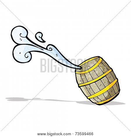 cartoon barrel of water