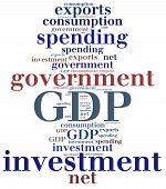foto of macroeconomics  - GDP or Gross domestic product components - JPG