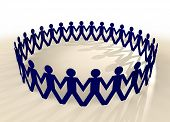 picture of holding hands  - people in union holding hands in a circle with shadow - JPG