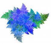 stock photo of asymmetric  - Frosty pattern fractal dynamic asymmetric - JPG