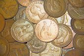 stock photo of shilling  - Huge pile of the UK coins - JPG