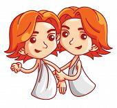foto of gemini  - gemini zodiac illustration Editable  - JPG
