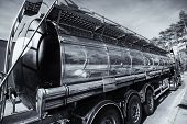 foto of fuel tanker  - large fuel and oil truck - JPG