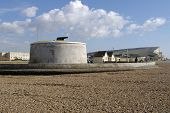 stock photo of martello  - Martello Tower on seafront at Seaford in East Sussex - JPG