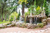 foto of macedonia  - Waterfall in the garden near lake Ohrid Macedonia - JPG