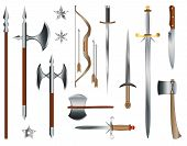 foto of bow arrow  - Swords axes and bow - JPG