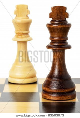 Chess Figures Isolated On The White Background