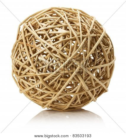 Wooden Tangle Isolated On The White Background
