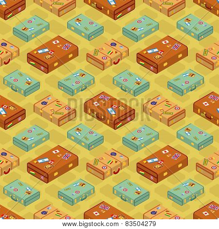Seamless Suitcases Pattern