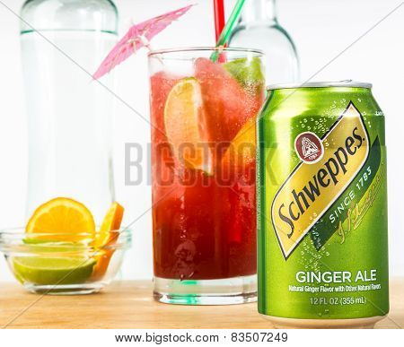 Schweppes Ginger Ale Cocktail