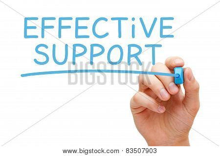 Effective Support Blue Marker