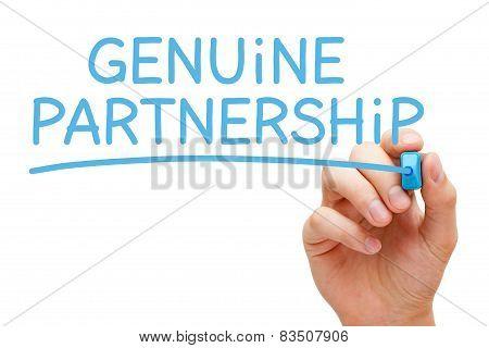 Genuine Partnership Blue Marker