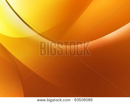 Orange background with a drapery
