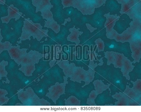 Blue-green background with spots