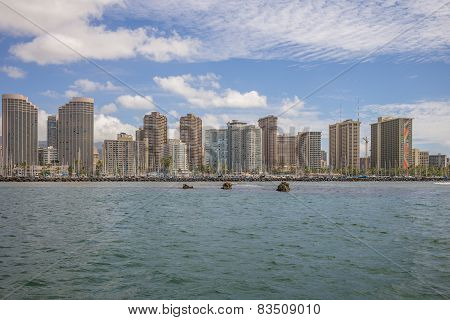 Waikiki viewed from offshore.
