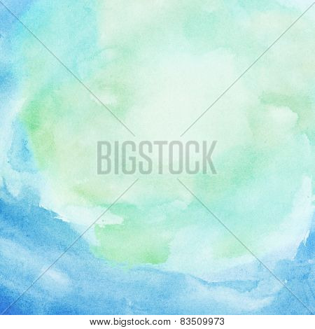 Watercolor water, colorful spring, summer background