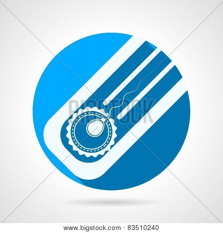 Round flat vector icon for artificial insemination