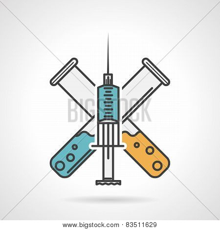 Colored vector icon for vaccination