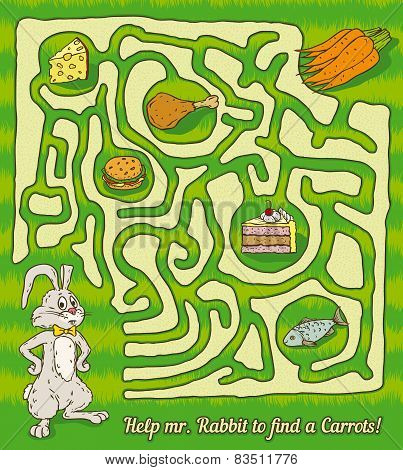 Rabbit Maze Game