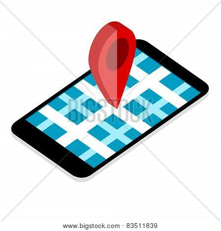 Map Point On Mobile Phone