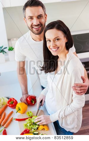 Happy And Healthy Couple.