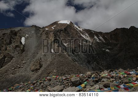 Scenic Views Of The Mountains Of Tibet