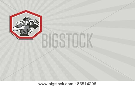 Business Card Automotive Mechanic Carrying Pick-up Truck
