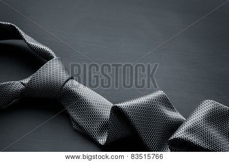 Grey men's tie