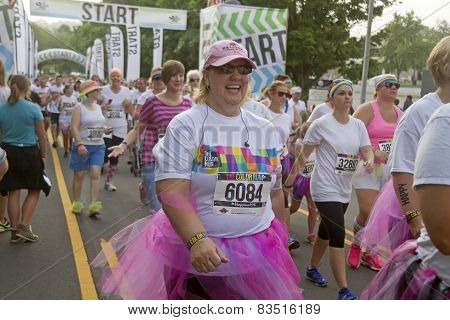 Happy And Colorful Color Runners