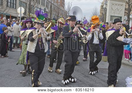 Whimsical Mardi Gras Parade Band