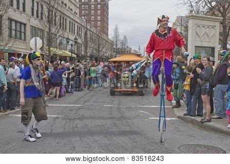 Motley Ruckus In The Mardi Gras Parade