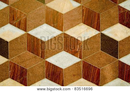 Marble tile pattern
