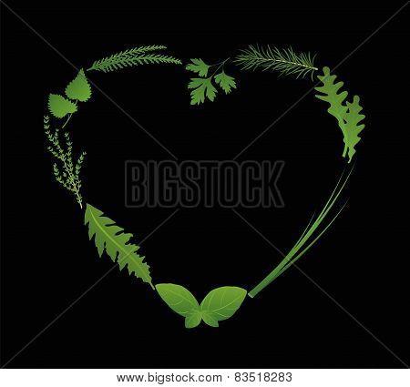Herbs Heart Black