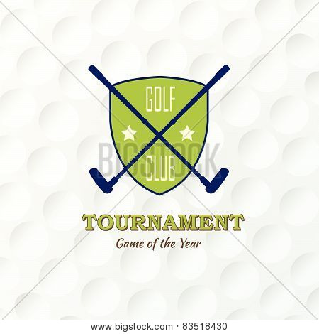 Emblems For Golf Emblems For Golf With The Label Of Golf Clubs. Retro Label Design & Ball. Retro Lab