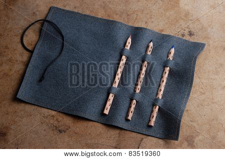 pencils in the pencil case