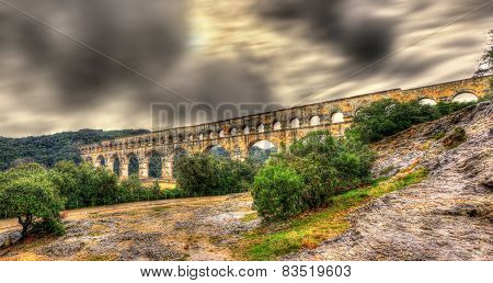 Pont Du Gard, Ancient Roman Aqueduct, Unesco Site In France