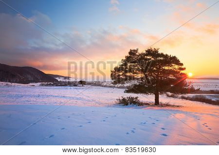 Slovak winter landscape.