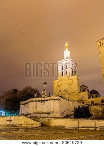 Cathedral Notre Dame Des Doms In Avignon, France