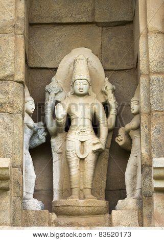 Statue Of Lord Vishnu.