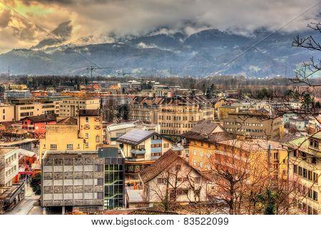 View Of In Vaduz, The Capital Of Liechtenstein