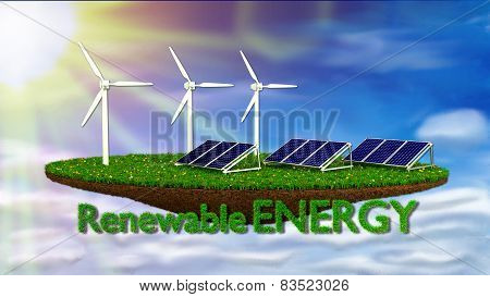 Wind Generators and solar panels - renewable energy