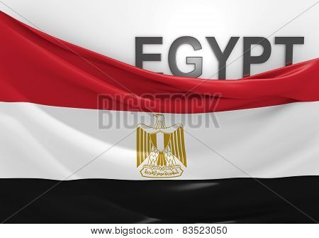 Egypt flag and country name