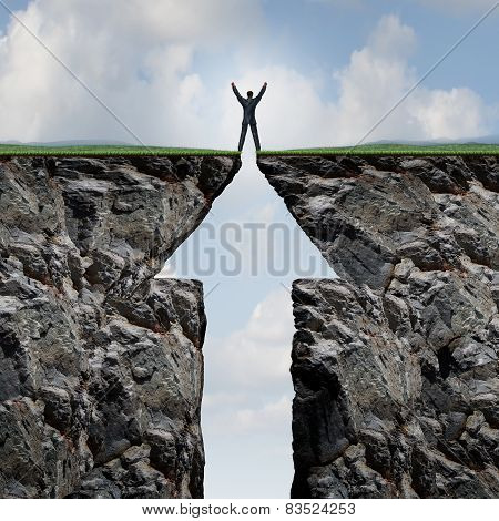 Man Climbing To Success
