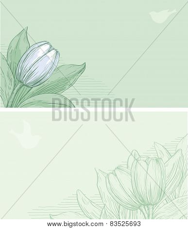 spring floral banners
