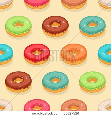 Seamless Cute Donuts