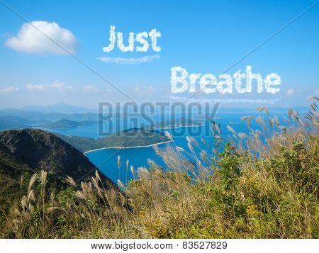 concept of just breathe
