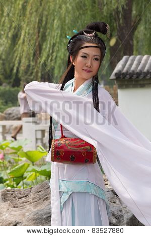 Chinese lady in traditional costume, Beijing