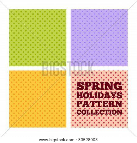 Spring holiday pattern collection