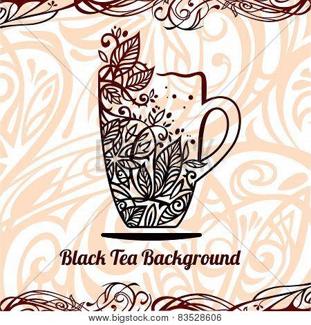 Tea Background, Vector Illustration